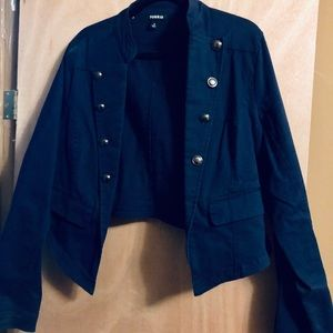 Navy Blue Military Blazer
